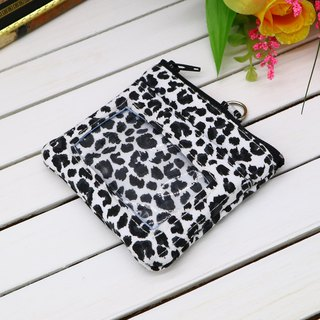 Leopard Leisure Card Voucher Purse ID Card Holder Small Wallet Business Card Holder Identification Card*SK*