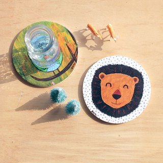 Ceramic coaster | Smiling lion