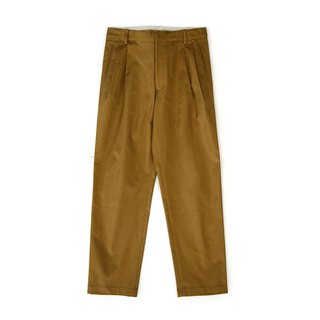 French A-class fabric super-stiff khaki wide pants