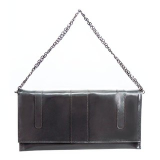 Monica Evening Bag / Monique Evening Bag / Full Leather / Hand Limited / Grey