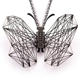 Magi-Steel thin steel jewelry point series geometric necklace (black)