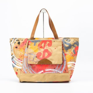 Artist cooperation / Casual Tote Bags Shoulder Handbag in Water Resistant Canvas