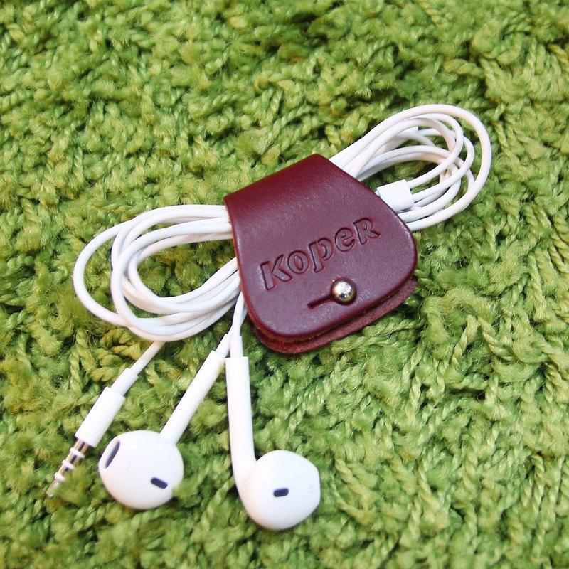 28401f5c2d KOPER handmade leather headphone hub - red wine - Designer KOPER ...