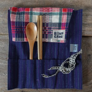 Brut Cake Pure Handmade Ancient Scroll Reel Eco-friendly Cutlery Bags Can Be Separated For Easy Storage (10)