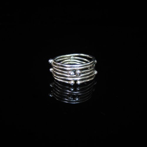 [Feng Nature Series - stream] handmade silver ring. Commemorative ring. Valentine's Ring