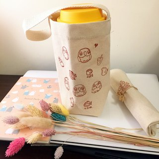 Eco Cup Cup x Japan canvas bag xBirdbird paradise hand-carved small stamp