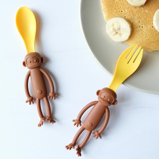 Monkey Spoon & Fork Set │ children / tableware / picnic