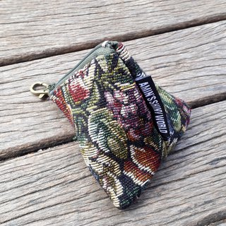 AMIN'S SHINY WORLD handmade triangle Manny ethnic pattern change small bag