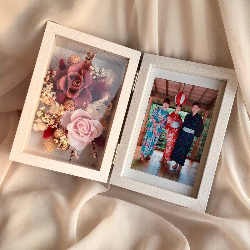 永生花照片寶物盒 相框 生日禮物 照片客製 聖誕節禮物 交換禮物