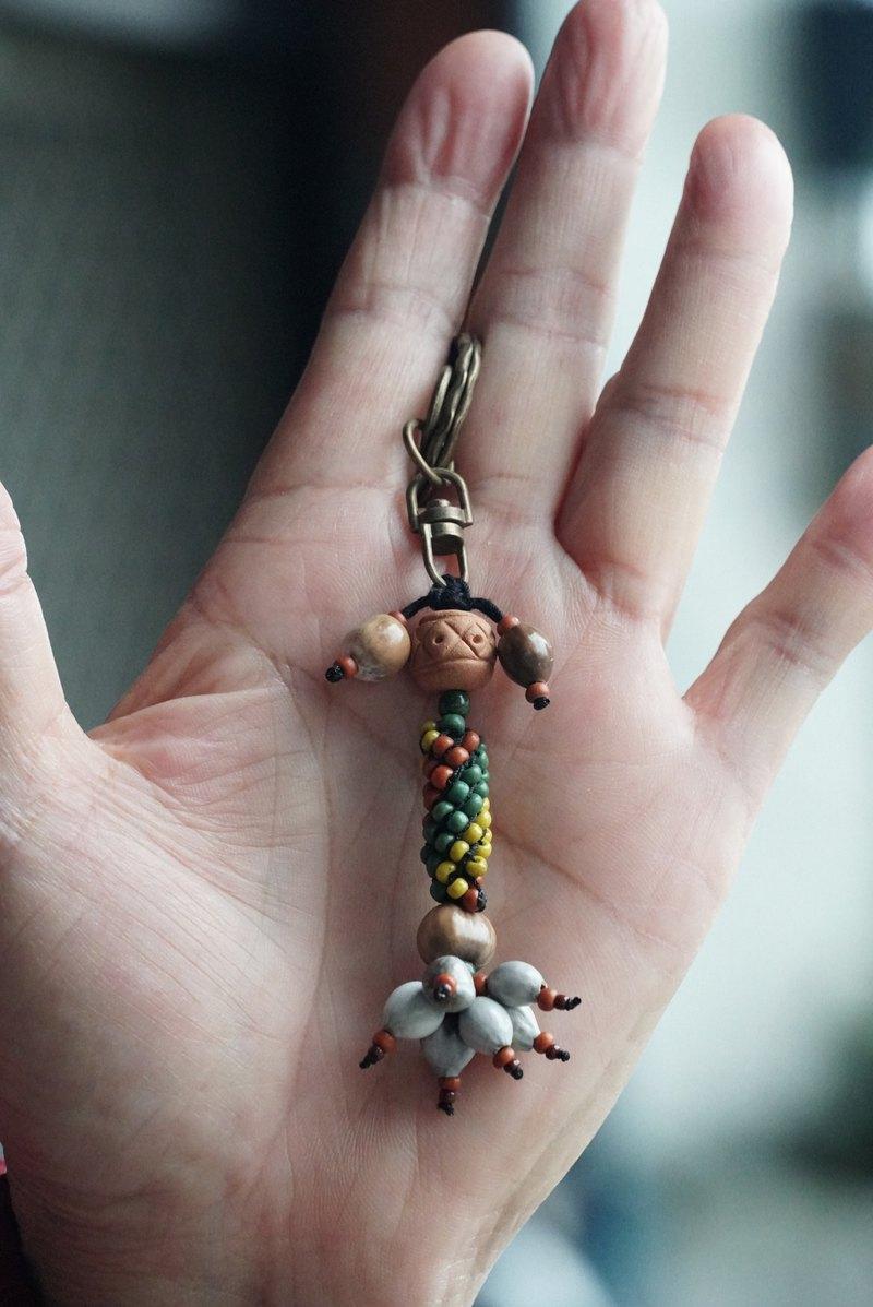 陶珠 手拉手 鑰匙圈