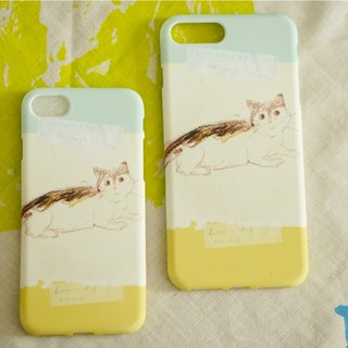 Street cat diary mobile phone shell always loves you my kitten green yellow iphone full range of various models custom