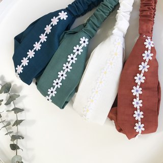 Lace flower cross hair band - custom zone