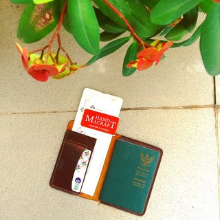 Passport Holder with Boarding Pass and Credit card (color dark brown)