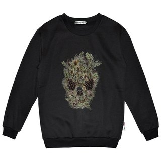 British Fashion Brand -Baker Street- Hazelnut Skull Printed Sweater