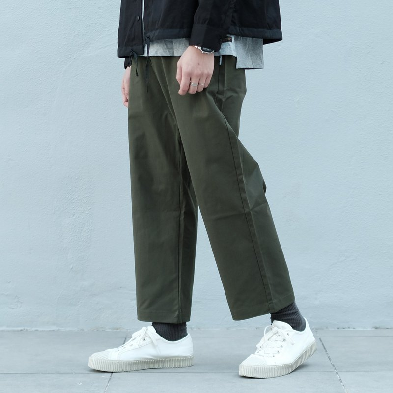 Wide Chino Pants/Unisex/Chino/Trousers