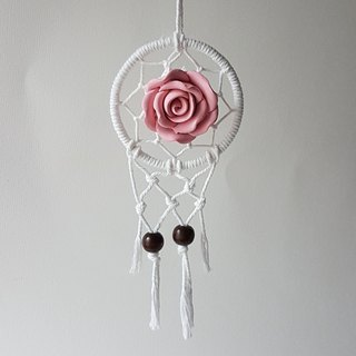 Dreamcatcher car accessory diffuser - Pink Rose aroma stone