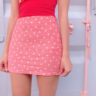 JCC peach pink velvet short skirts