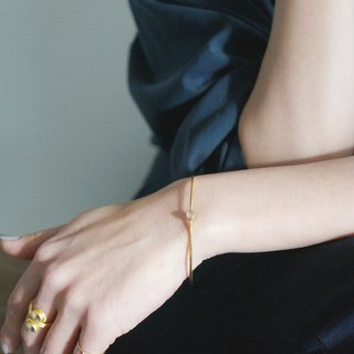 [Gold Vermeil / Gemstone] Crystal Quartz Stacking Bangle