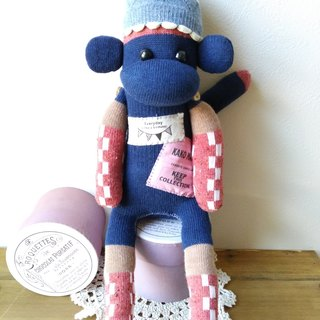 socks monkey/sleepy boy(navy)