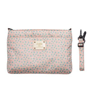 Out-of-the-go small side pack _Zoila Soft Yi powder double-layer crossbody bag