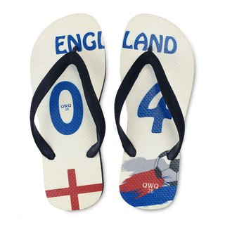 QWQ creative design flip-flops - England - men's [limited]