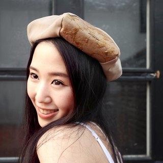 Beret Beret | Painter Hat | Six-Piece Cropping | Apricot Dry Flower Pressing Cloth