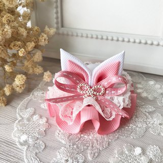 Lace rabbit ear waltz / pink