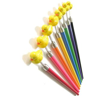 Yellow Duck Character Spring Pencils Lot of 6 Goody Bag Freebie