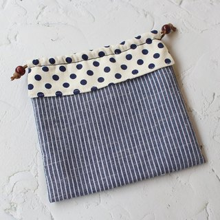 Polka dot stitching bundle pocket storage bag cosmetic bag