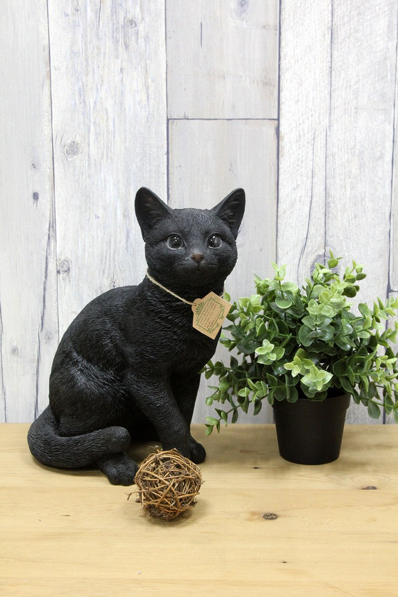 Japanese Magnets immersive animal series cute black cat sitting posture modeling large piggy bank