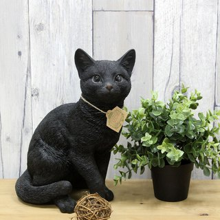 SUSS-Japan Magnets immersive animal series cute black cat sitting posture modeling large piggy bank