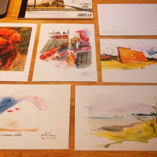 Alansketch Postcards series (5 pcs)(on sale)
