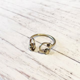 Structural Reorganization Series - Active Brass Bead Ring
