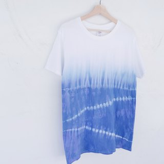 Tie dye/T-shirt/Garment/Custom size/Men/Women :White wave: