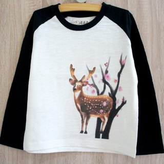 Taiwan Sika Deer (Plum Blossom Buck) Long Sleeve Long Sleeve Tee (Children's Edition)