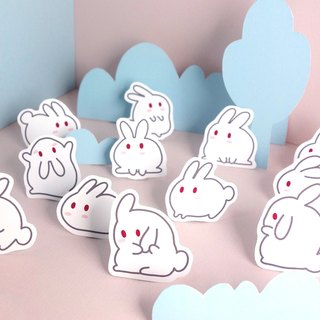Milky rice fried rice cake Rabbit Stickers 12 / group
