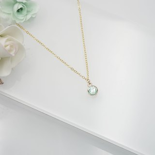 Swarovski Crystal Necklace (Color: Chrysolite)