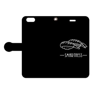 [Notebook type iPhone case] SMARTNESS / sushi / black