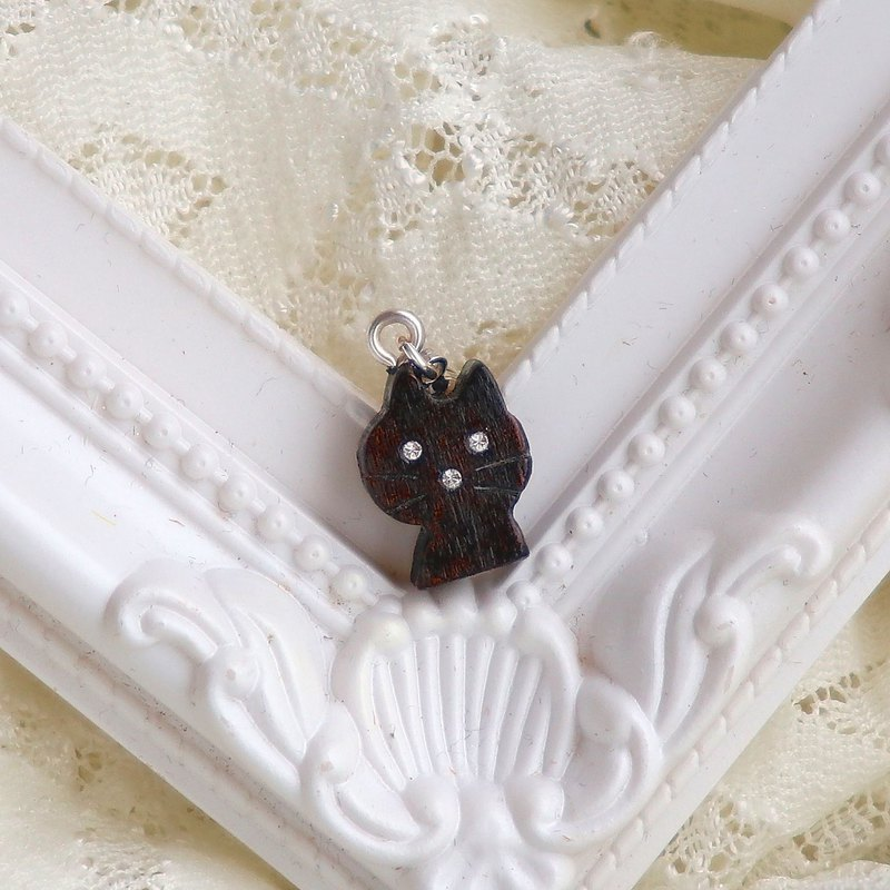 手工木製吊飾  小貓 吊飾  禮物訂製 聖誕禮物