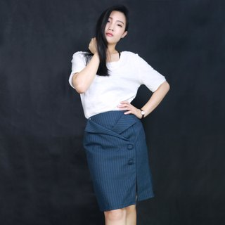 Xu Mu: Deconstruction lapel pencil skirt