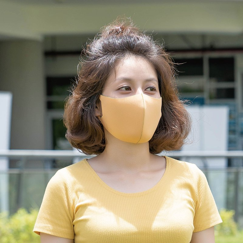 防潑水-雙色4色-3D立體透氣口罩1入組