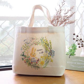 Wild wreath canvas bag