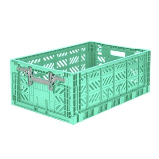 Turkey Aykasa Folding Storage Basket (L) - Mint Green