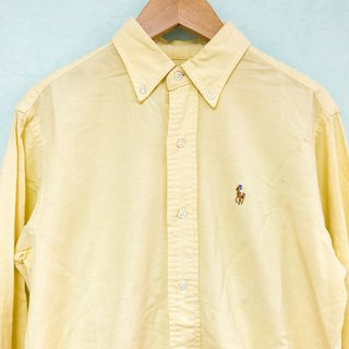 Top / Creamy Yellow Long-sleeves Blouse by Ralph Lauren
