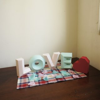 Wedding props / shooting props / LOVE plus no love money / three-dimensional character wealthy / Specials