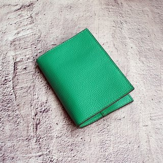 My Little Travel - Onion Green Leather Passport Present Passport Set Passport Clip