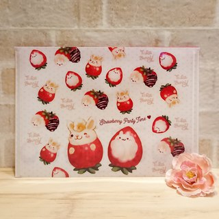 A5 file bag - strawberry rabbit