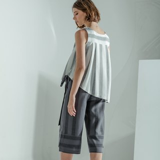 Striped Culottes (Grey)