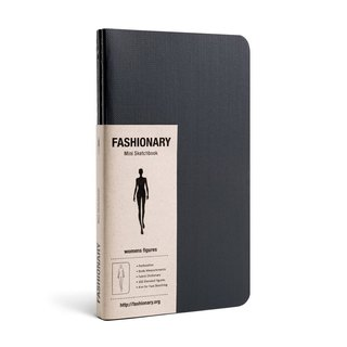 FASHIONARY hand-painted book / female version / A6 / 3 piece set / black