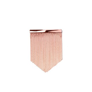Façade rose gold fringed brooch
